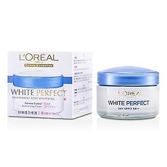 L'oreal Dermo-expertise White Perfect Fairness Control Moisturizing Cream Day Spf17 Pa++ - 50ml/1.7oz
