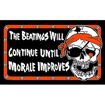 5ft x 3ft Flag - Pirate - The beatings will continue…