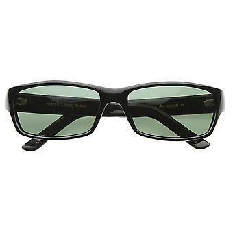 Basic Modern Casual Lifestyle Rectangle Sunglasses G-15 Lens