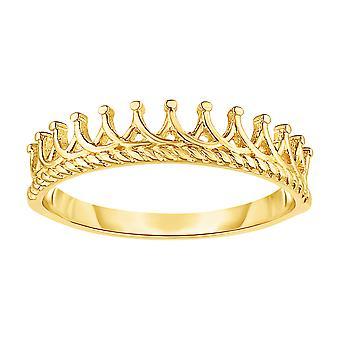 14K Gold Tiara Crown Design Ring, Size 7