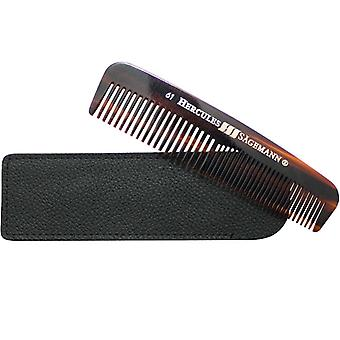 Hercules Sagemann Mens Pocket Comb Sawcut In Leather Case 5""