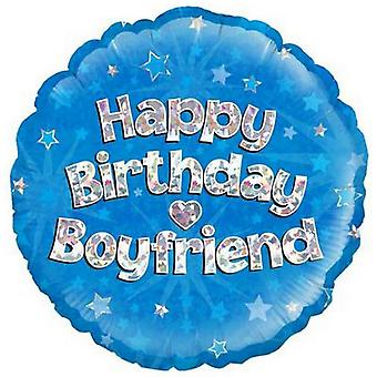 Oaktree 18 Inch Happy Birthday Boyfriend Foil Balloon