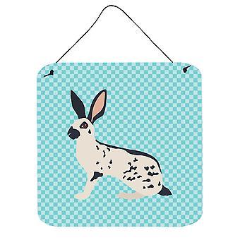 Anglais apercevoir lapin bleu cocher mur ou porte accrocher impressions