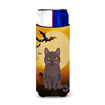 Halloween Chartreux Cat Michelob Ultra Hugger for slim cans