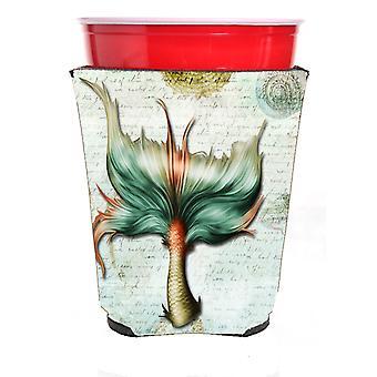 Mermaids and Mermen Mermaid Tail Red Solo Cup Beverage Insulator Hugger
