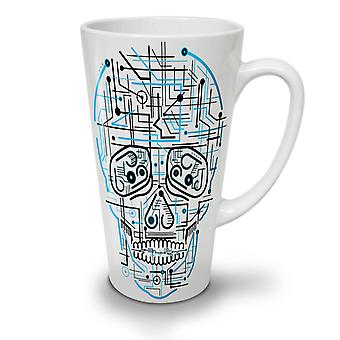 Head Face Panel Skull NEW White Tea Coffee Ceramic Latte Mug 12 oz | Wellcoda