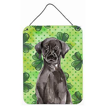 Schwarze Labrador St. Patricks Wand oder Tür hängen Drucke