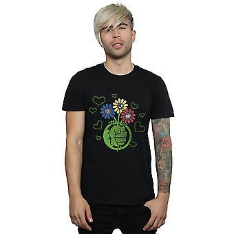 Marvel Men's Hulk Flower Fist T-Shirt