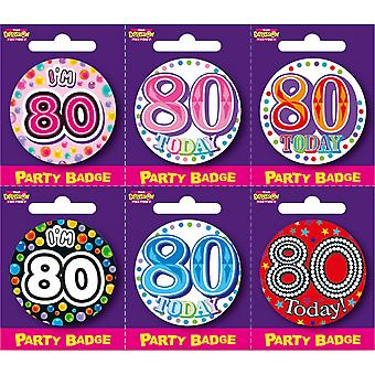 Expression Factory Birthday Badge Pack Of 6