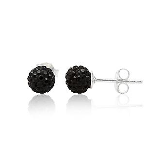 Crystal Black and Silver 925 earrings
