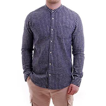 Scotch & Soda Grandad Striped Ls Shirt