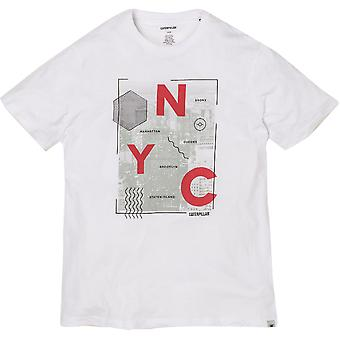 Caterpillar Mens NYC Graphic Short Sleeve Casual T-Shirt