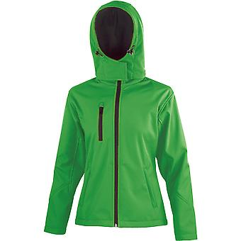 Result Core Ladies Performance Hooded Softshell Coat