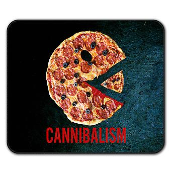Cannibal Pizza Food  Non-Slip Mouse Mat Pad 24cm x 20cm | Wellcoda