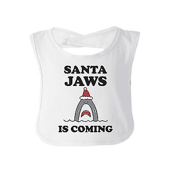 Santa Jaws Is Coming Baby Bib Funny Baby Shower Gift For Christmas