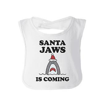Santa szczęki jest przyjście Baby Bib Funny Baby prysznicem prezent na Boże Narodzenie