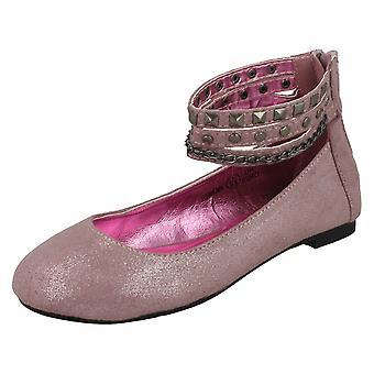 Girls Cutie Flat Ballerina / Chain Ankle Strap