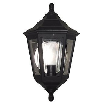 Elstead Lighting Kinsale 6 Sided Flush Wall Light In Black