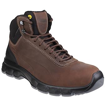 Puma Mens Condor Mid Lace Up Leather Safety Boots