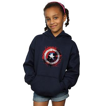 Marvel Girls Avengers Captain America Art Shield Hoodie