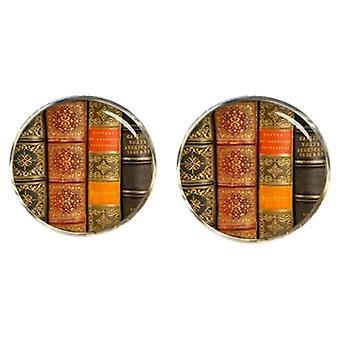 Bassin et boutons de manchettes livres brun - brun/blanc/kaki