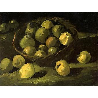 Still Life with Basket of Apples, Vincent Van Gogh, 33x 43,5 cm