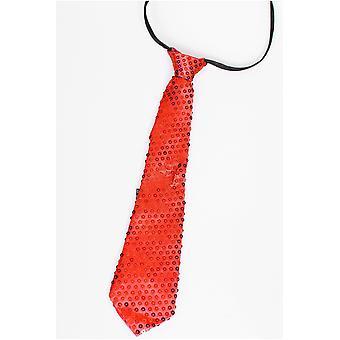 弓と絆キラキラ ネクタイ赤