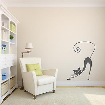 Siamese Stretching Cat Wall sticker V2