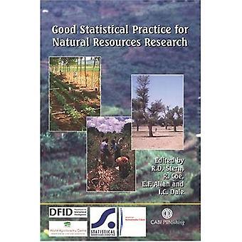 Goede statistische praktijken voor onderzoek van de natuurlijke hulpbronnen