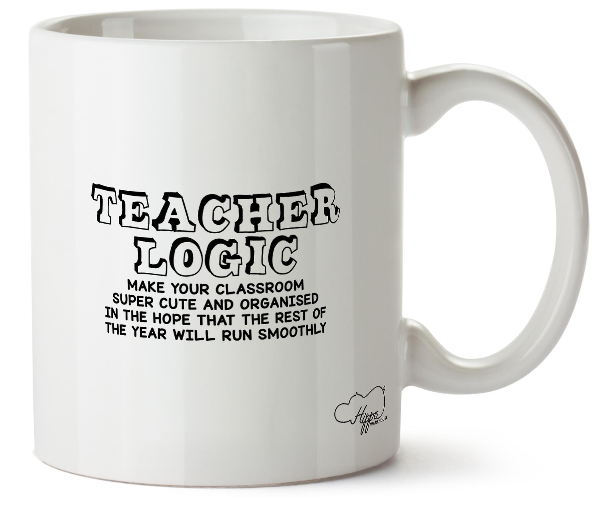 Учитель Hippowarehouse логика: Сделать ваш класс супер мило и организованной печатных кружка Кубок керамические 10oz