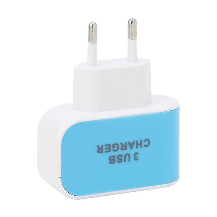 Stuff Certified ® 5-Pack Triple (3x) USB Port iPhone / Android Wall Charger Wall Charger AC Home Blues