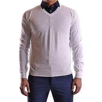 Peserico Ezbc017020 Hombres's Suéter de Algodón Blanco
