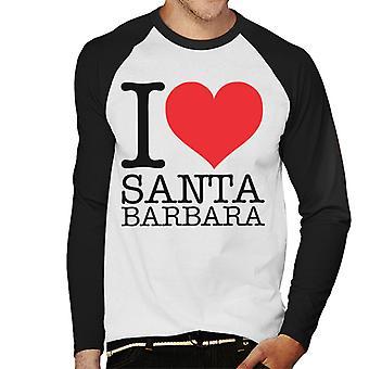 Jag älskar Santa Barbara mäns Baseball långärmad T-Shirt