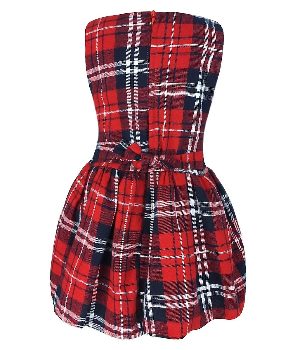Baby Girls Tartan Highland Sleeveless Party Dress