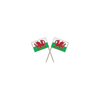 Union Jack Wear Wales Flag Party Picks - Pack Of 50