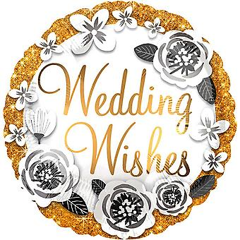 Anagram Wedding Wishes Round Foil Balloon