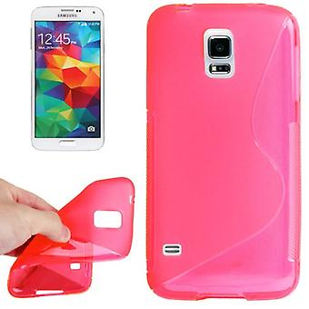 Protective case TPU case cover for mobile Samsung Galaxy S5 mini pink