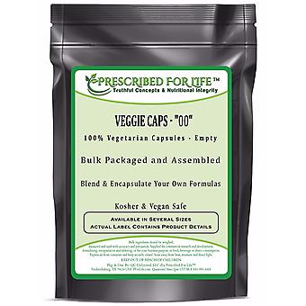 Veggie Caps - 100% Vegetarian Capsules - Size
