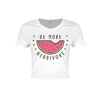 Grindstore Ladies/Womens Be More Herbivore Crop Top