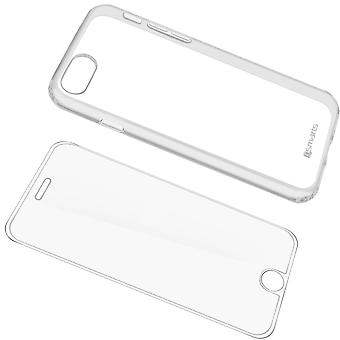 Back case + Screen Protector Tempered Glass Clear Apple iPhone 7/8 – 4smarts