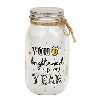 You Brightened Up My Year Light Up Jar | Gifts From Handpicked