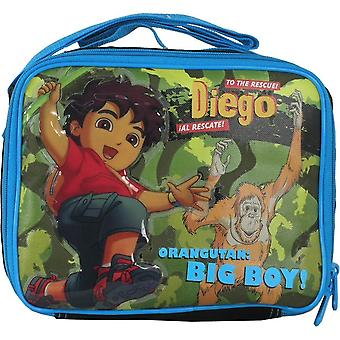 Lunch Bag Go Diego Go Jump in the Forest Blue Boys Toys Case 812888