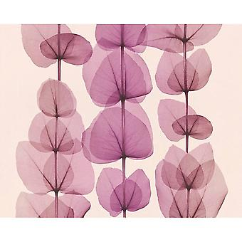 A.S. Creation AS Creation Leaf Stripe Pattern Wallpaper Botanical Autumn Leaves 342453