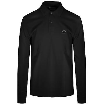 Lacoste Classic L1312 Black Long-Sleeved Polo Shirt