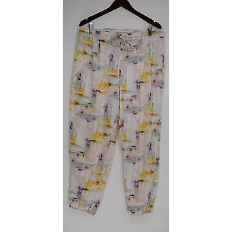 H di Halston Women's Pantaloni Blocco Stampa Pull-On Jogger Gray A275449