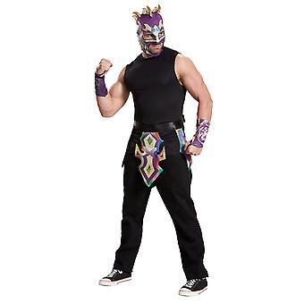 Kit de correa de Kalisto Emanuel Rodriguez WWE luchador máscara de traje para hombre muñequeras