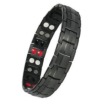 MPS® EUROPE 4 en 1 noir Titanium Bracelet magnétique + liens Free Removal Tool