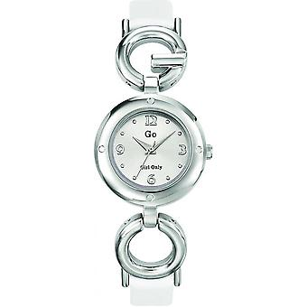 Go Girl Only 697391 - watch steel leather white woman