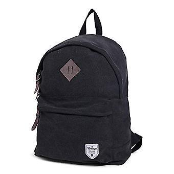 Norl?nder - Vintage canvas backpack - 41 cm - Black (Black) - 28500
