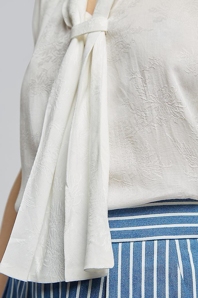 Louche Kay Kay Jacquard Top White